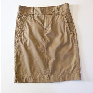Tommy Hilfiger Tan Khaki Midi Skirt